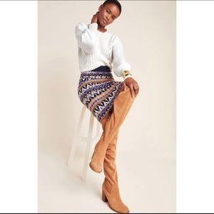 Anthropologie Saoirse Fair Isle Sweater Skirt B22